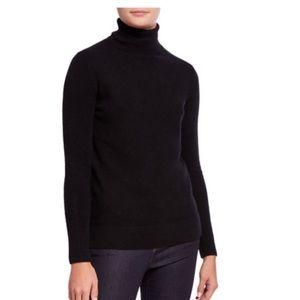 NWT Neiman Marcus Black Cashmere Turtleneck Large